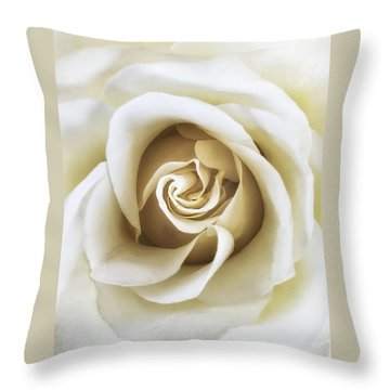 Throw Pillow featuring the photograph White Rose by Andrew Soundarajan