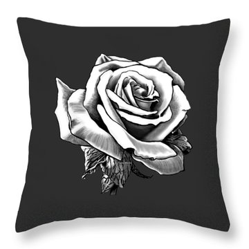White Rose For The Lady Throw Pillow