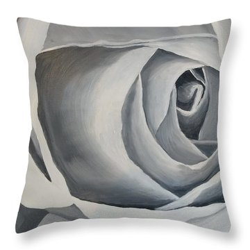 Throw Pillow featuring the painting White Rose by Kevin Daly