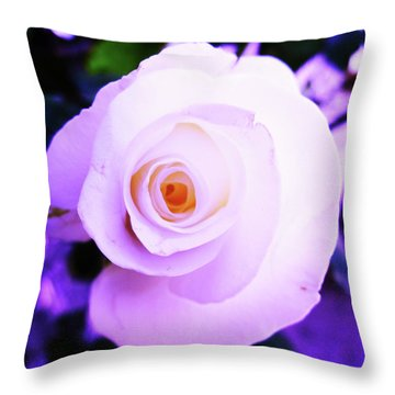 Throw Pillow featuring the photograph White Rose by Mary Ellen Frazee