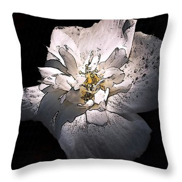 Throw Pillow featuring the photograph White Rose Of Sharon by Richard Ricci