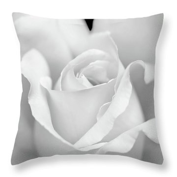 Throw Pillow featuring the photograph White Rose Purity by Jennie Marie Schell