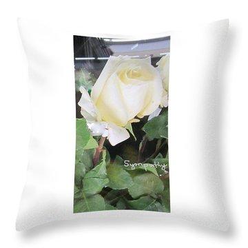 White Rose - Sympathy Card Throw Pillow