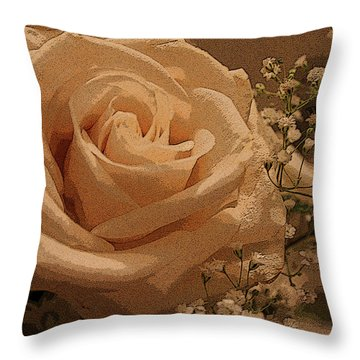 White On White Throw Pillow