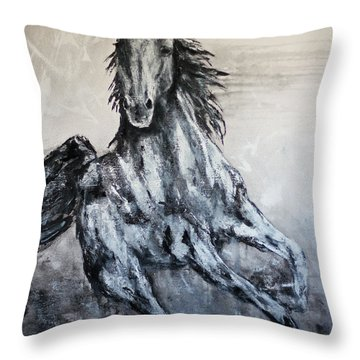 White Runner Throw Pillow