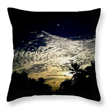 White  Throw Pillow by Rushan Ruzaick