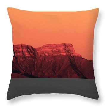 White Sands Dawn #1 Throw Pillow