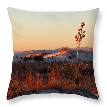 White Sands Dawn #14 Throw Pillow