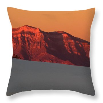 White Sands Dawn #2 Throw Pillow