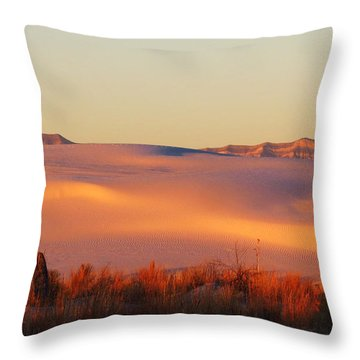 White Sands Dawn #24 Throw Pillow