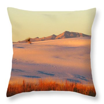 White Sands Dawn #27 Throw Pillow