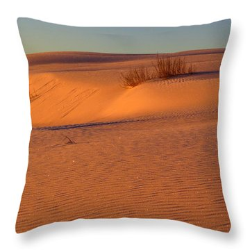 White Sands Dawn #30 Throw Pillow