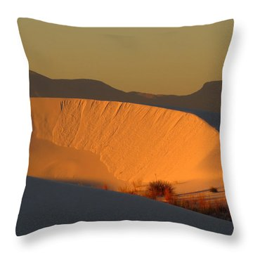 White Sands Dawn #35 Throw Pillow