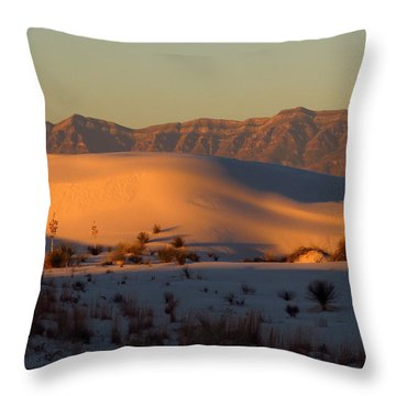 White Sands Dawn #40 Throw Pillow