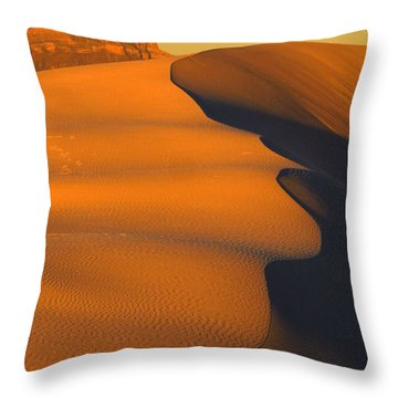 White Sands Dawn #44 Throw Pillow