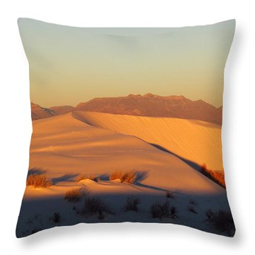 White Sands Dawn #51 Throw Pillow