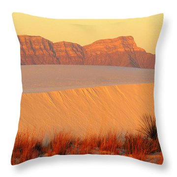 White Sands Dawn #8 Throw Pillow