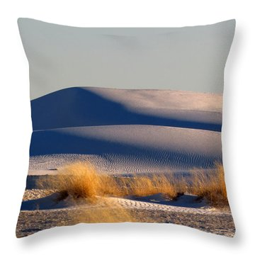 White Sands Evening #11 Throw Pillow