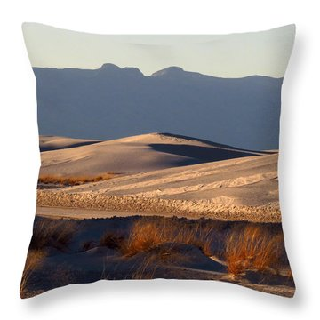 White Sands Evening #13 Throw Pillow