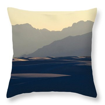 White Sands Evening #30 Throw Pillow