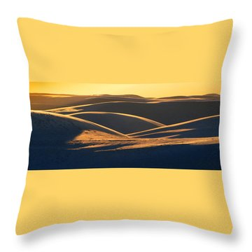 White Sands Evening #32 Throw Pillow