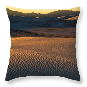White Sands Evening #35 Throw Pillow
