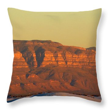 White Sands Evening #37 Throw Pillow
