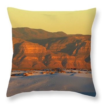 White Sands Evening #39 Throw Pillow