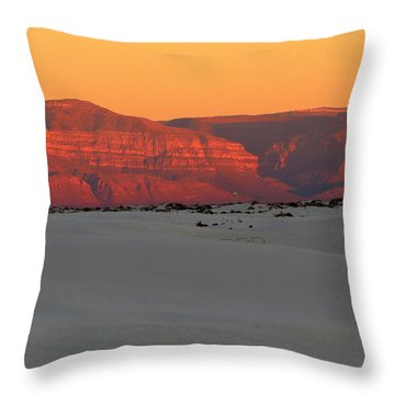 White Sands Evening #40 Throw Pillow
