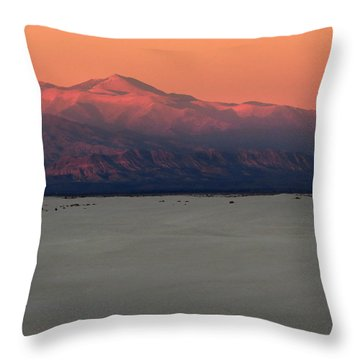 White Sands Evening #48 Throw Pillow