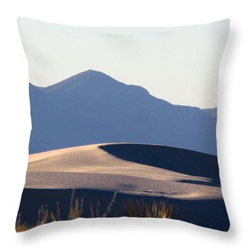 White Sands Evening #5 Throw Pillow