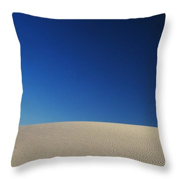 White Sands Evening #8 Throw Pillow