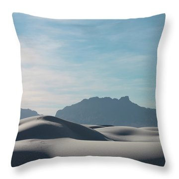 Throw Pillow featuring the painting White Sands Natural Anatomy  by Jack Pumphrey
