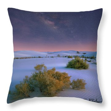 White Sands Starry Night Throw Pillow by Tim Fitzharris