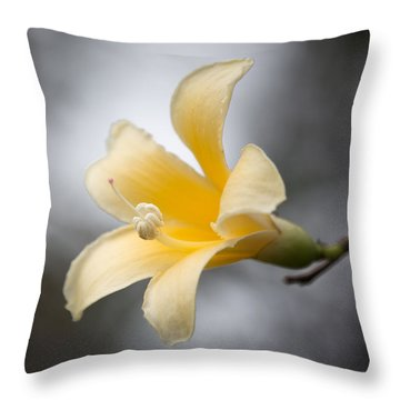 White Silk Floss 1 Throw Pillow