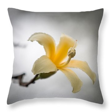 White Silk Floss 3 Throw Pillow