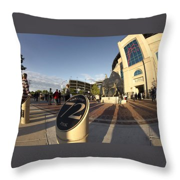 White Sox Fans Before A Game Throw Pillow by Sven Brogren