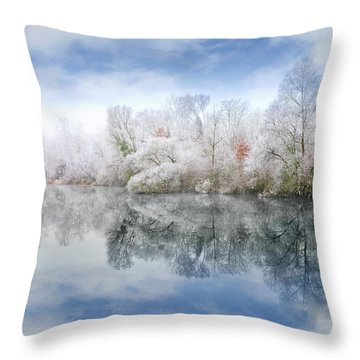 White Space Throw Pillow by Philippe Sainte-Laudy