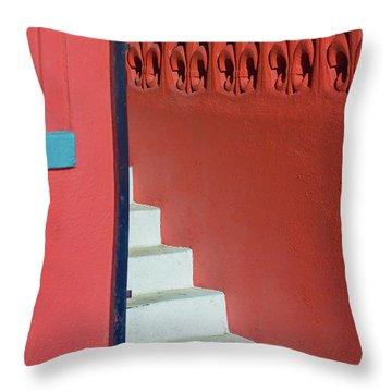 White Staircase Venice Beach California Throw Pillow