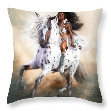 Throw Pillow featuring the digital art White Storm by Shanina Conway