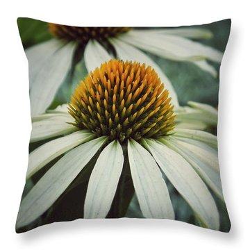 White Swan Throw Pillow by Karen Stahlros