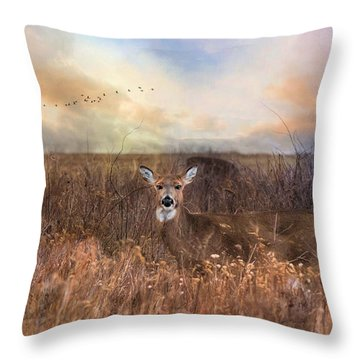 Throw Pillow featuring the photograph White Tail by Robin-lee Vieira
