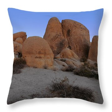 White Tank Rock Formation Throw Pillow