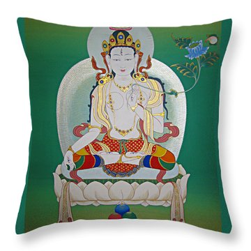 White Tara Throw Pillow