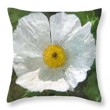 White Thistle Throw Pillow