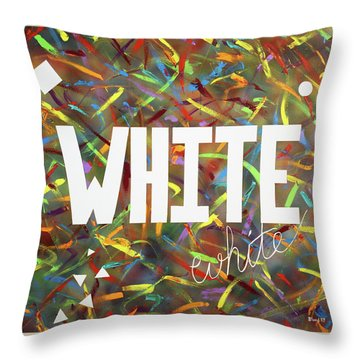 White Throw Pillow by Thomas Blood