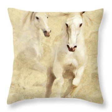 White Thunder Throw Pillow