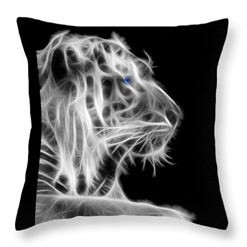 Throw Pillow featuring the photograph White Tiger by Shane Bechler