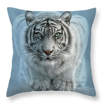 White Tiger - Wild Intentions Throw Pillow