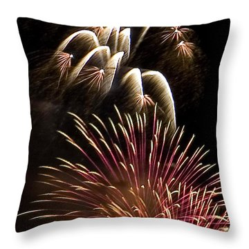 White Trails Throw Pillow by David Patterson
